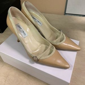 Jimmy Choo Heidi Camel Shoes